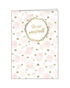 Faltkarte: Du bist wertvoll - Gold-Edition - Neutral