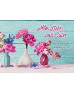 Postkarten: Alles Liebe und Gute, 4 Stück