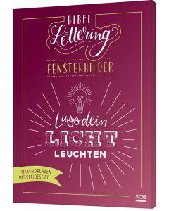 ARTIKELNUMMER: 629876000  ISBN/EAN: 9783789398766 Bibel-Lettering Fensterbilder Maxi-Vorlagen mit Kreidestift Tabea Wippermann (Illustr.) CB-Buchshop 3D-Cover