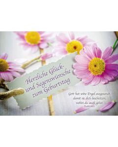 Postkarten: Herzliche Glück- und Segenswünsche, 4 Stück