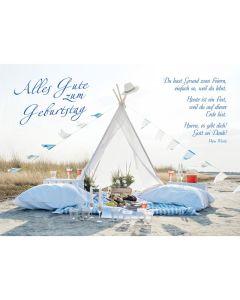 Postkarten: Alles Gute zum Geburtstag, 4 Stück