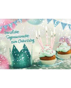 Postkarten: Herzliche Segenswünsche zum Geburtstag, 4 Stück