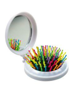 Haarbürste mit Spiegel - weiß