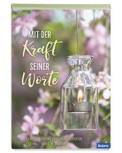 """Postkartenbox """"Mit der Kraft seiner Worte"""""""
