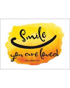 Fensterbild-Postkarten: Smile, you are loved, 4 Stück