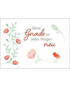 Fensterbild-Postkarten: Deine Gnade ist, 4 Stück