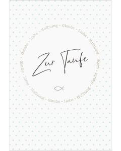 "Faltkarte ""Zur Taufe"""