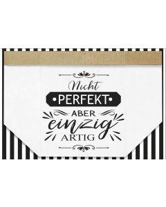 """Faltkarte """"Nicht perfekt, aber einzigartig"""""""