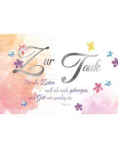 Faltkarte - Taufe Ps.52,10