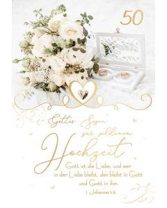 Faltkarte - Goldene Hochzeit 1.Joh.4,16