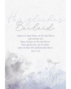 Faltkarte - Trauer Röm.14,8