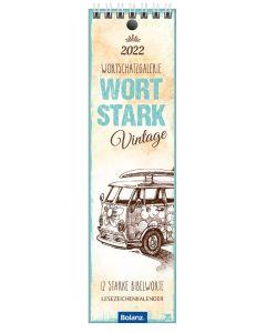 Wortstark 2022 - Vintage - Lesezeichenkalender