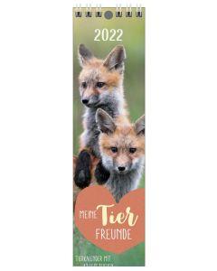 Meine Tierfreunde 2022 - Lesezeichenkalender