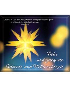 Geschenk-Umschläge: Frohe u. gesegnete Advents- und Weihnachtszeit