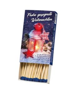Zündholzbox - Frohe gesegnete Weihnachten