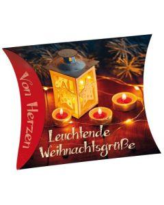 """Schafmilchseife Herz """"Leuchtende Weihnachtsgrüße"""""""