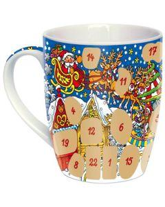"""Adventskalender-Tasse """"Weihnachtsmarkt"""" bunt"""