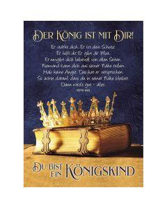 Postkarten: Der König ist mit Dir!, 4 Stück
