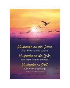 Postkarten: Ich glaube an die Sonne, 4 Stück