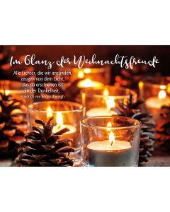 Postkarten: Im Glanz der Weihnachtsfreude, 4 Stück
