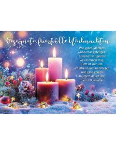 Faltkarte: Gesegnete, friedvolle Weihnachten