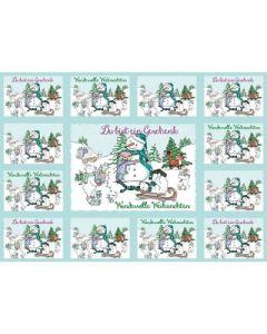 Aufkleber-Gruß-Karten: Du bist ein Geschenk - Weihnachten, 4 Stück