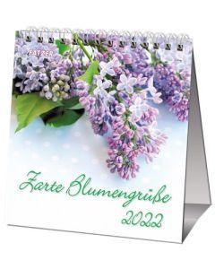Zarte Blumengrüße 2022 - Tischkalender