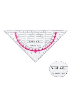 Geodreieck - neon-pink