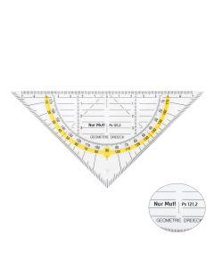 Geodreieck - neon-gelb