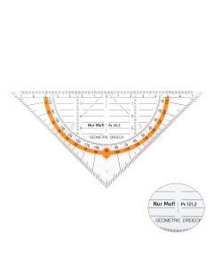 Geodreieck - neon-orange