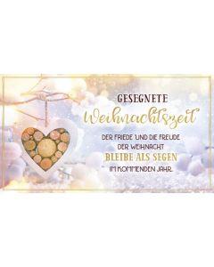 """Schokoladengrüsse """"Gesegnete Weihnachtszeit"""" (40g)"""