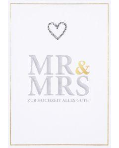 """Faltkarte """"Mr. & Mrs"""""""