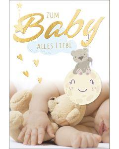 """Faltkarte """"Zum Baby alles Liebe"""""""