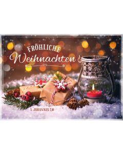 """Faltkarte """"Fröhliche Weihnachten - Päckchen im Schnee"""""""