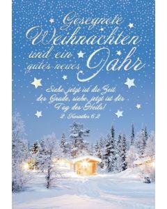 Faltkarte - Weihnachten 2.Kor.6,2