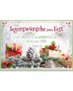 "Faltkarte ""Segenswünsche zum Fest"""