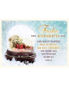 """Faltkarte """"Frohe Weihnachten - Schneekugel"""""""