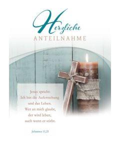 Faltkarte - Trauer Joh. 11,25