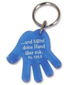 """Schlüsselanhänger """"Hand"""" - blau"""