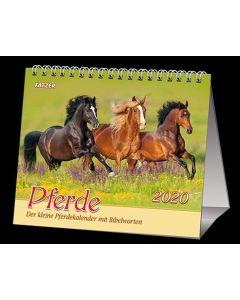 Pferde 2020 - 2 in 1-Tischkalender