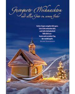 Faltkarte: Gesegnete Weihnachten - Weihnachten