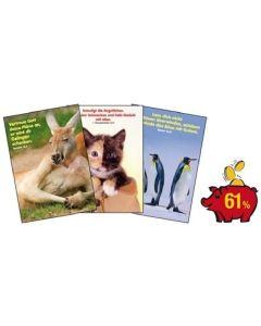 Spar-Paket: Tier-Motiv-Aufkleber