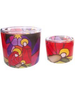 Leuchtglas 8 cm - Heilige Familie