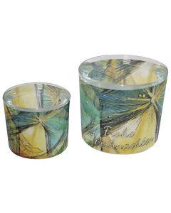 Leuchtglas 8 cm - Heilige Nacht