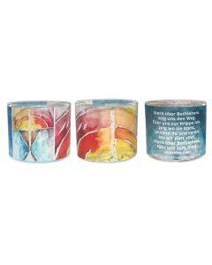 Leuchtglas 6cm Krippe