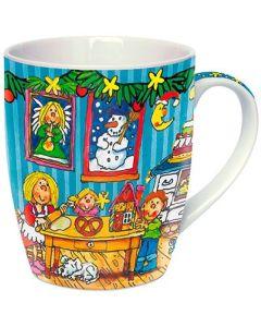 """Adventskalender-Tasse """"Weihnachtsstube"""""""