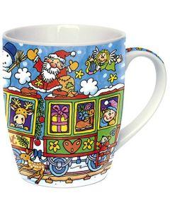 """Adventskalender-Tasse """"Weihnachtszug"""""""