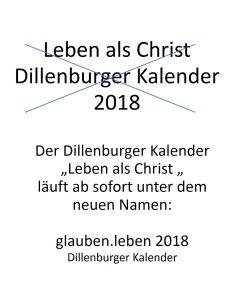 Leben als Christ 2018 - Abreißkalender - Buchkalender