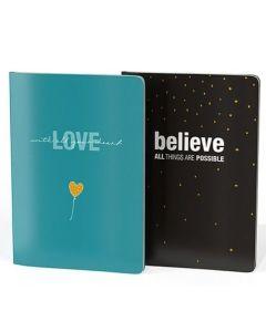 Notizheft-Set - Love & Believe