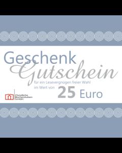 Geschenkgutschein über 25 € (Karte)